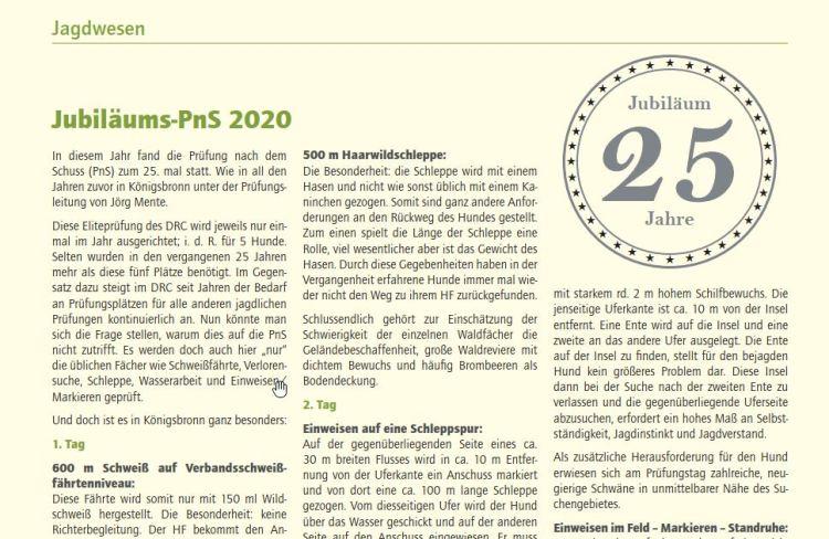 Artikel zur PnS 2020 im DRC Heft 06-2020